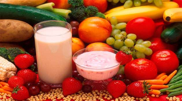 Milk And Fruits
